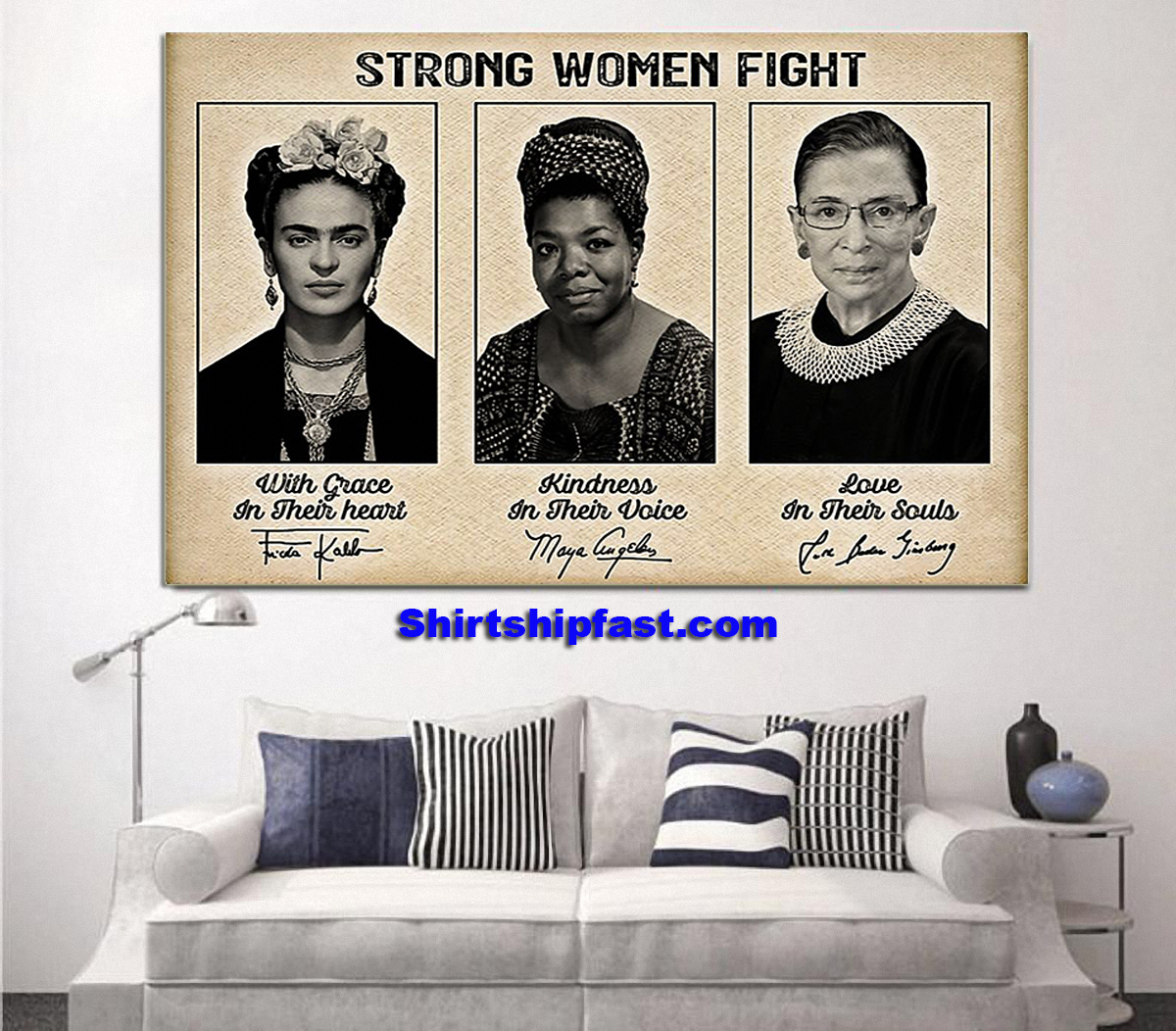 Feminists strong women fight poster - Picture 1