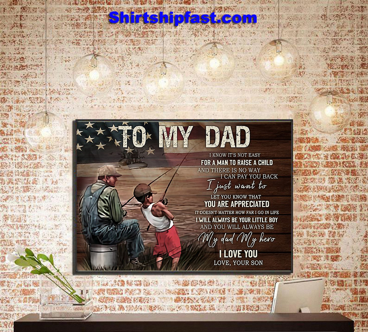 Fishing dad son canvas prints - Picture 1
