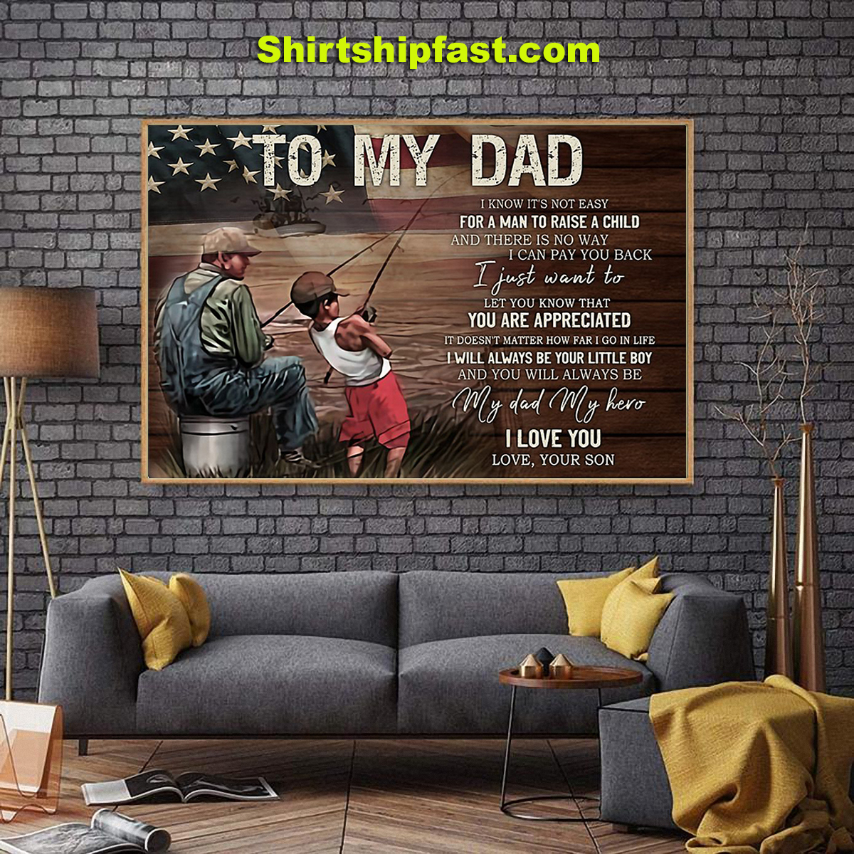 Fishing dad son canvas prints - Picture 2