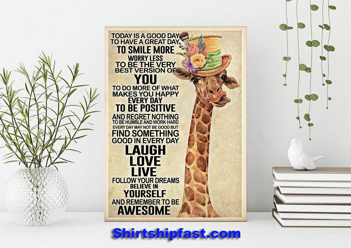Giraffe today is a good day poster - Picture 2
