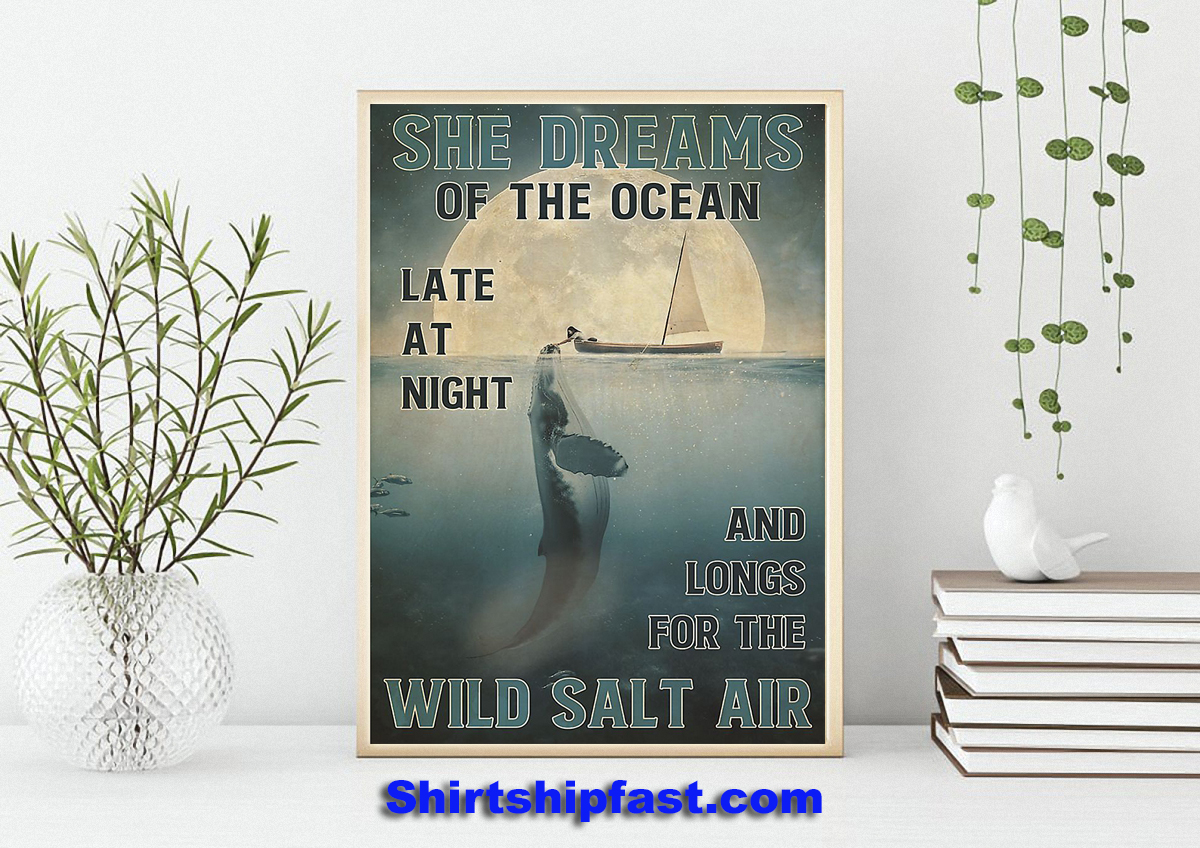 Girl and orca She dreams of the ocean poster - Picture 1