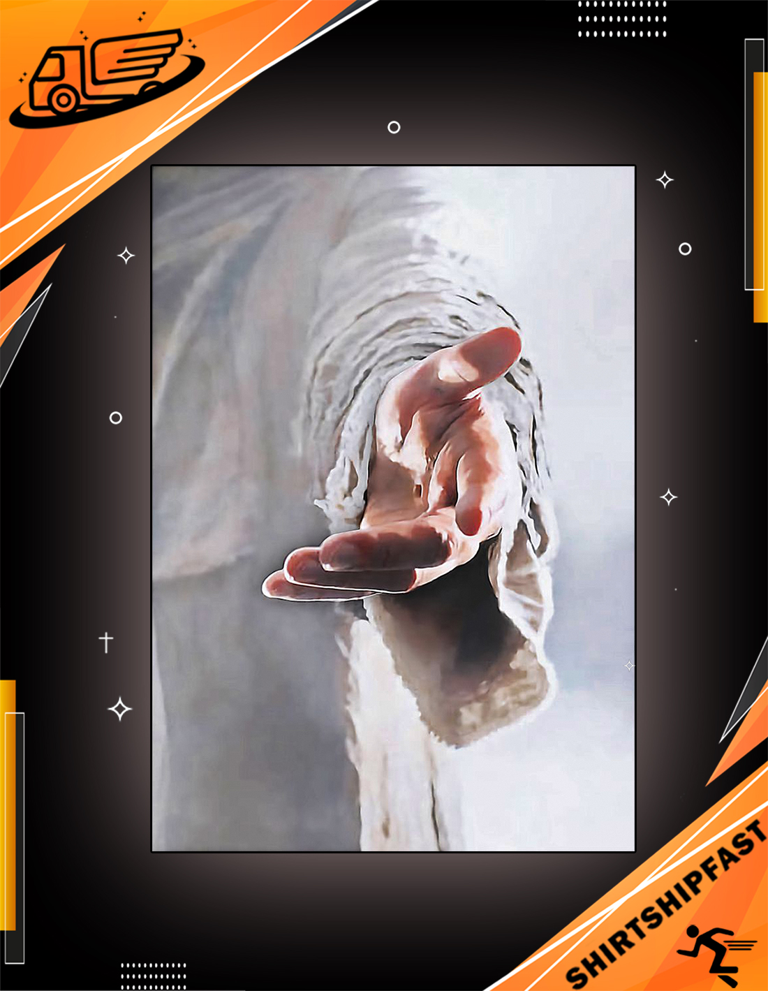 Give me your hand Jesus poster - Picture 1