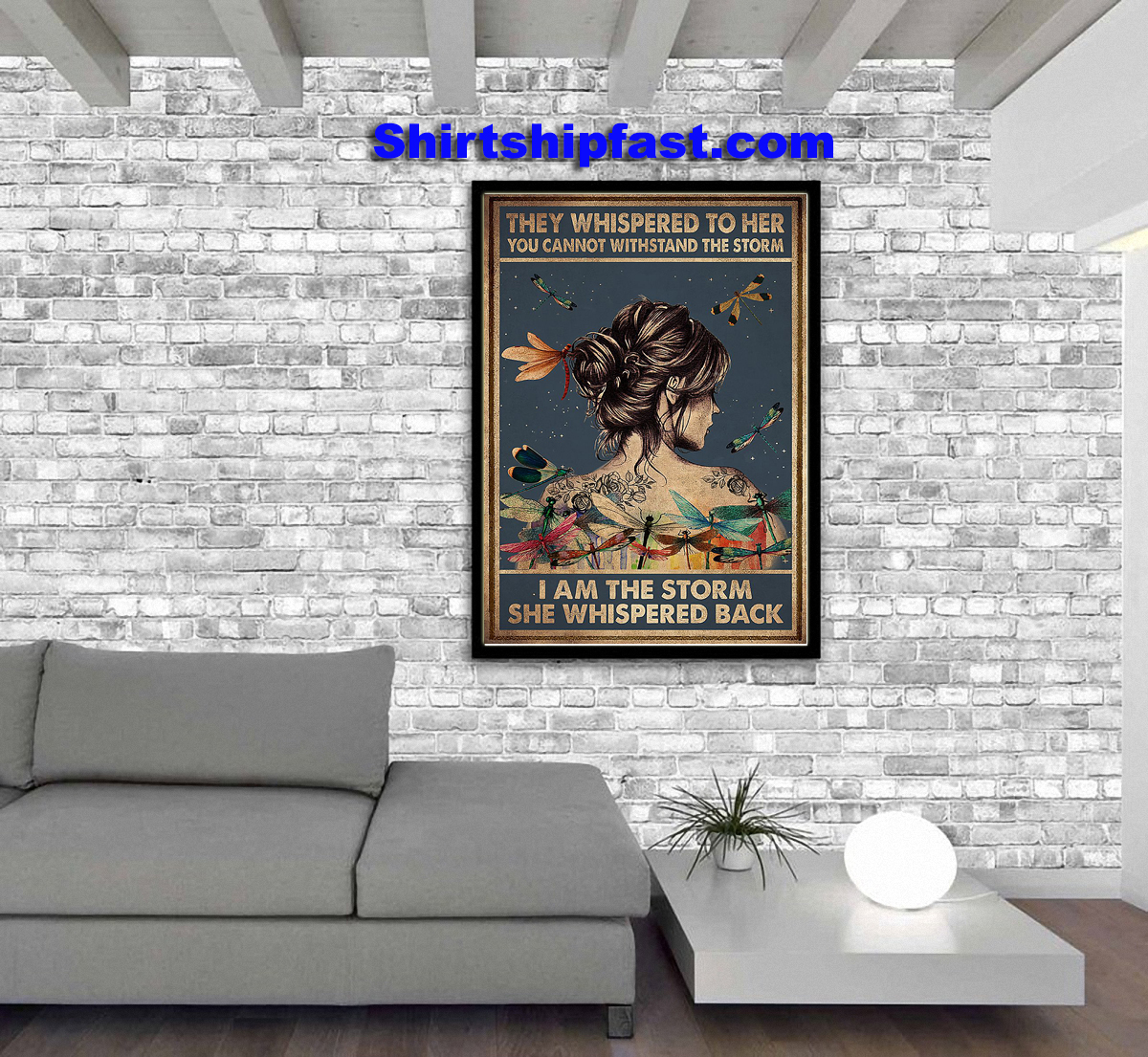 Hippie dragon fly I am the storm she whispered back poster - Picture 2