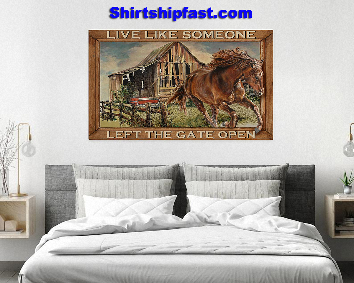 Horse running live like someone left the gate open poster - Picture 2