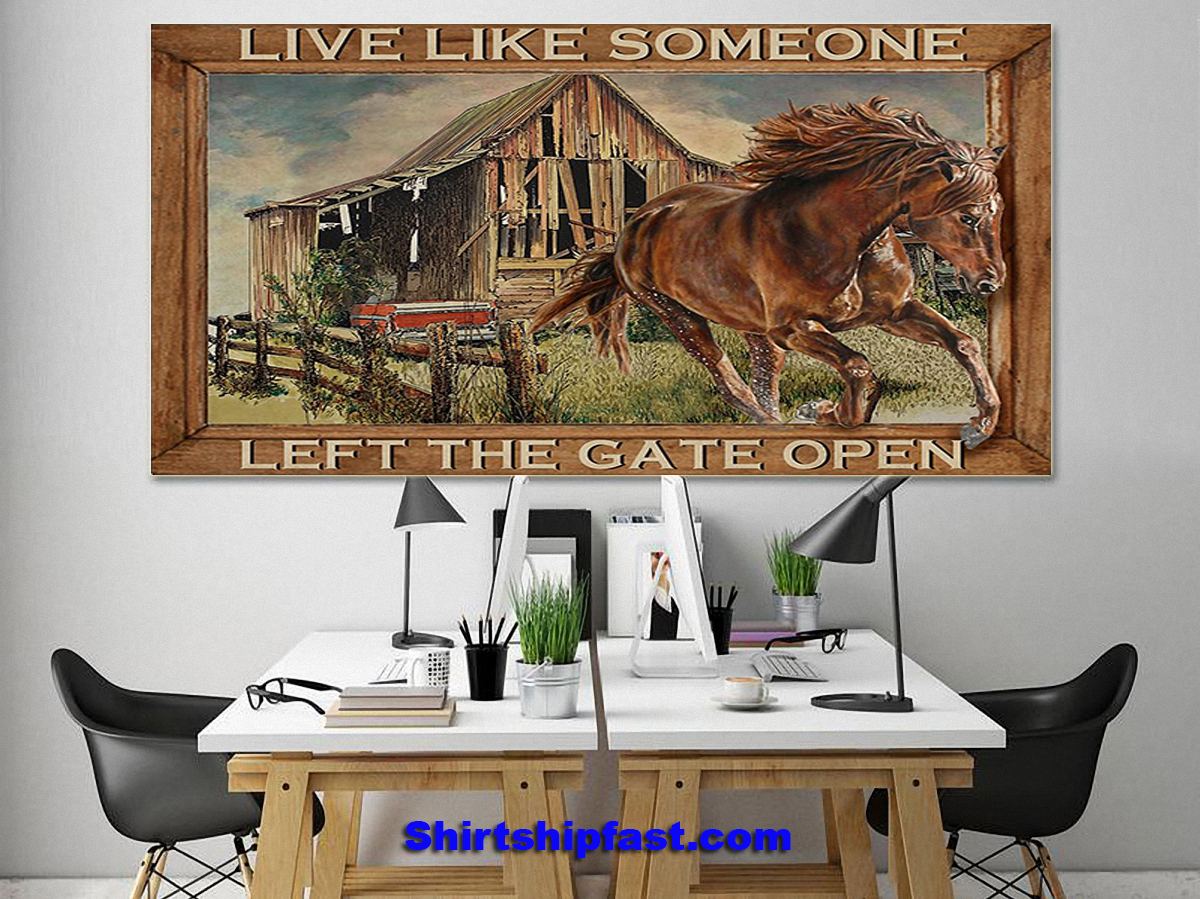Horse running live like someone left the gate open poster - Picture 3