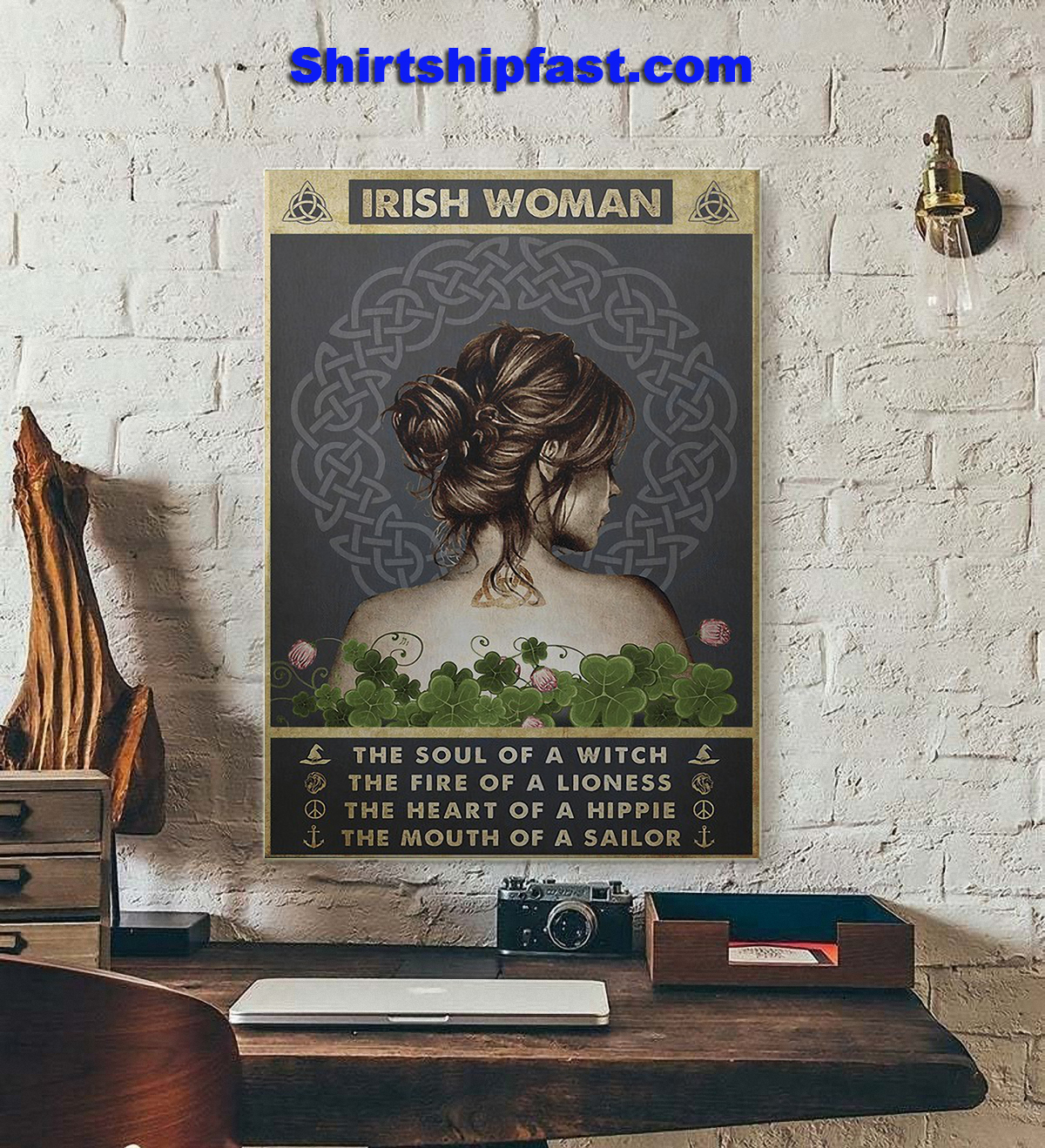 Irish woman the soul of a witch the fire of a lioness poster - Picture 2
