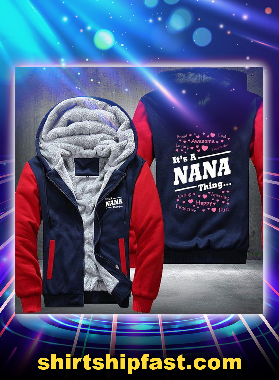 It's a nana thing fleece hoodie - Picture 1