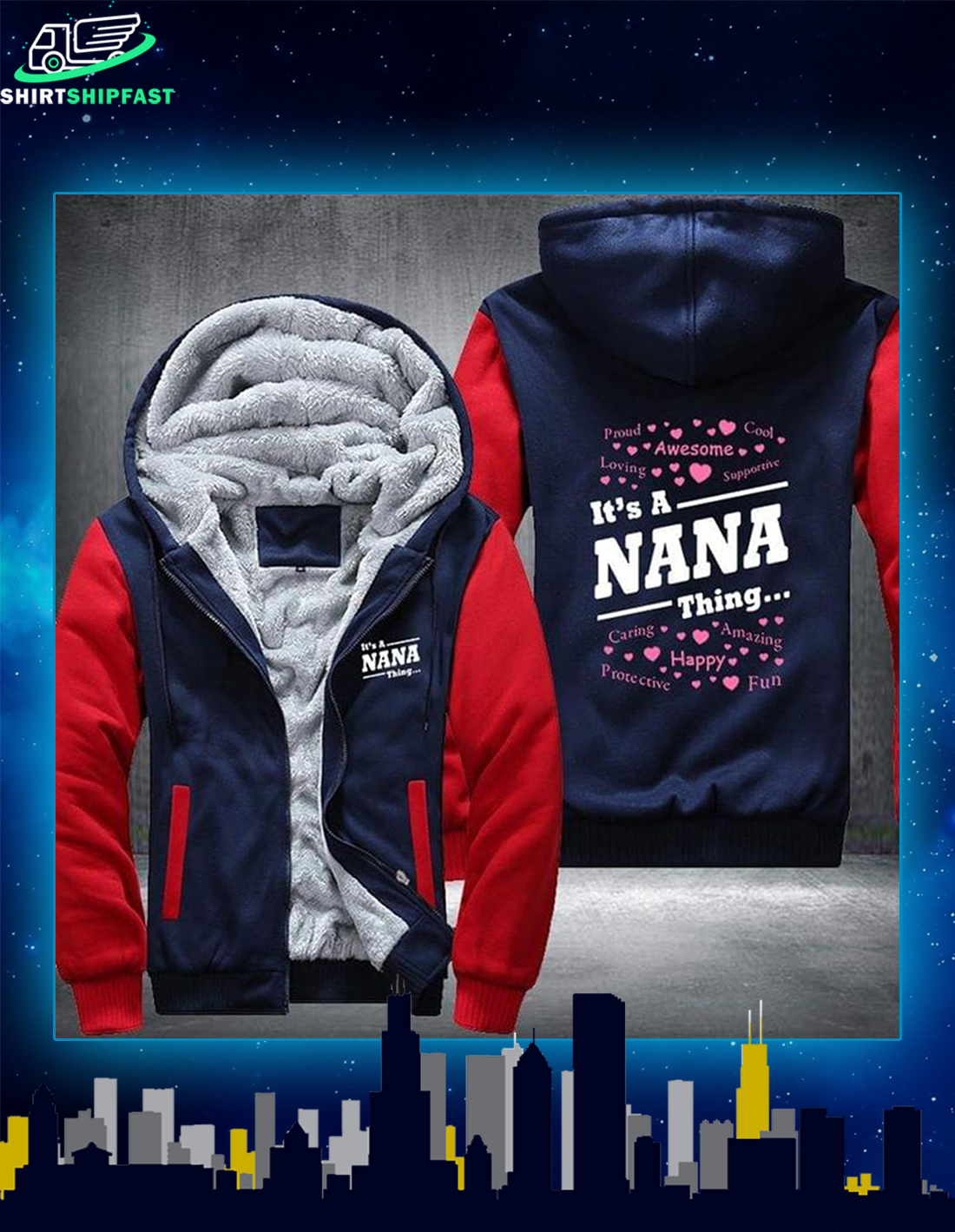 It's a nana thing fleece hoodie - Picture 2