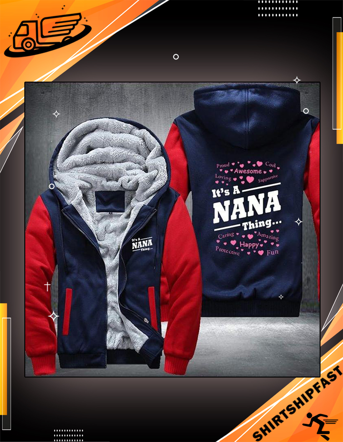 It's a nana thing fleece hoodie - Picture 3