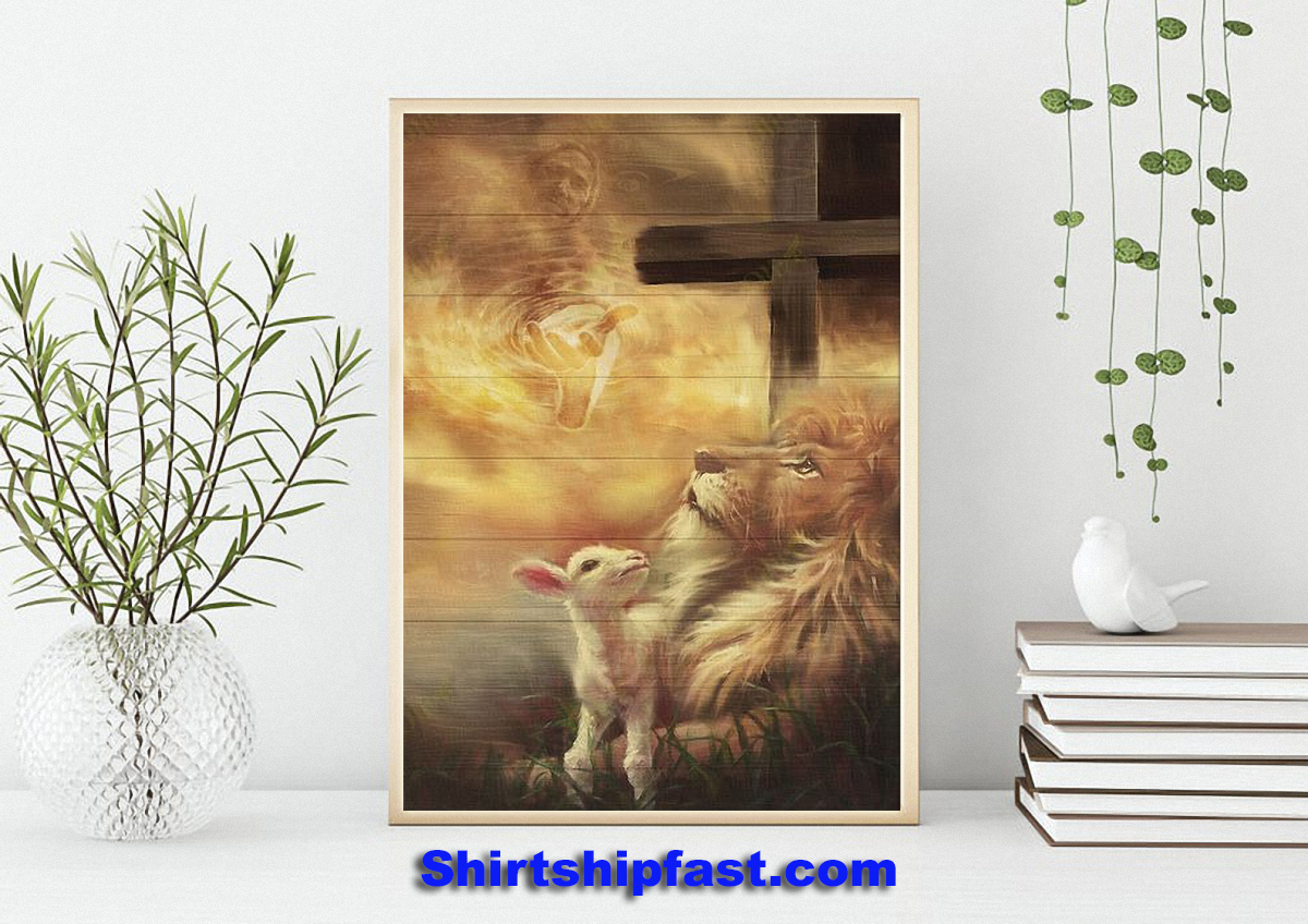 Jesus beautiful lion and lamb canvas prints - Picture 2