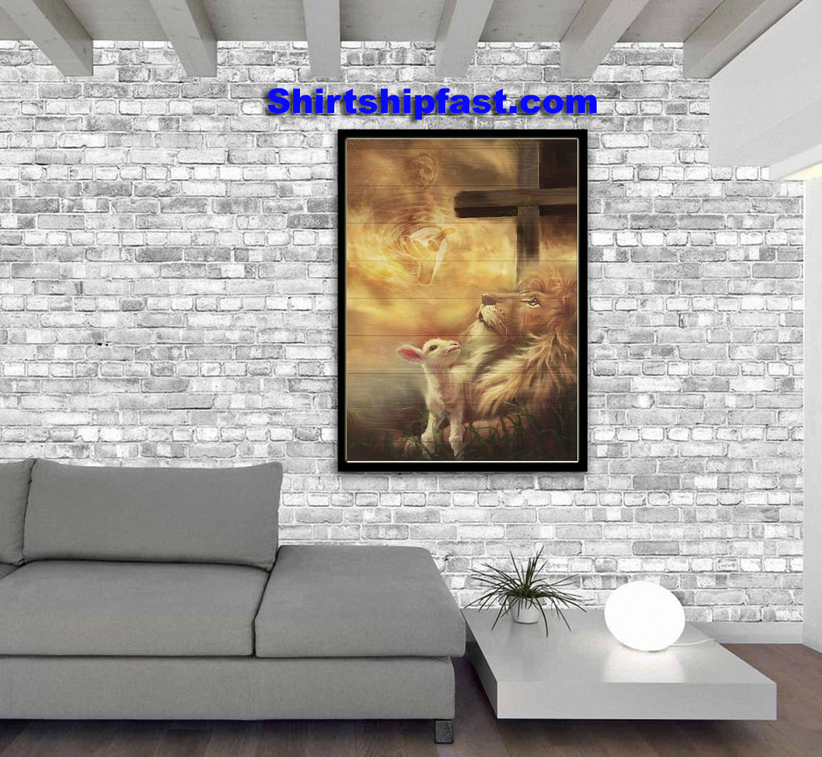 Jesus beautiful lion and lamb canvas prints - Picture 3