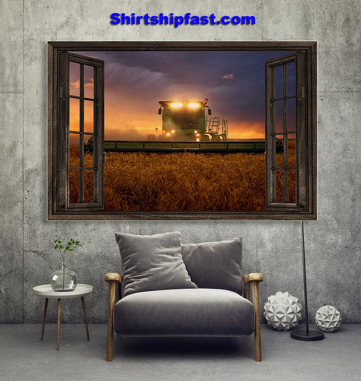 John Deere tractor window view poster - Picture 3
