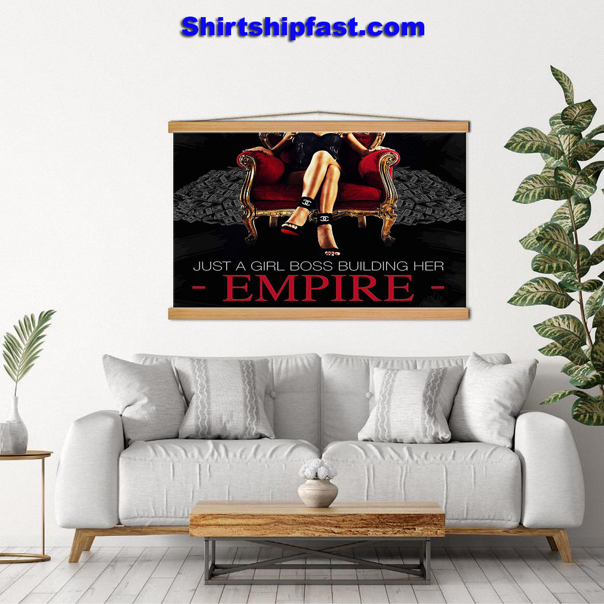 Just a girl boss building her empire canvas prints - Picture 2