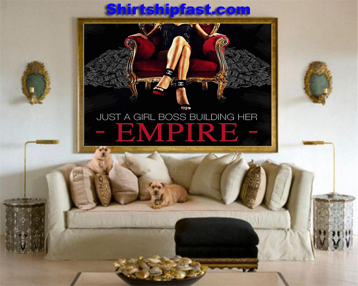 Just a girl boss building her empire canvas prints - Picture 3