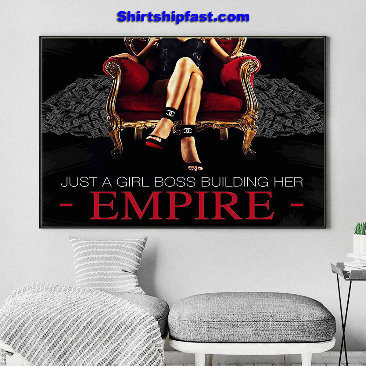 Just a girl boss building her empire canvas prints
