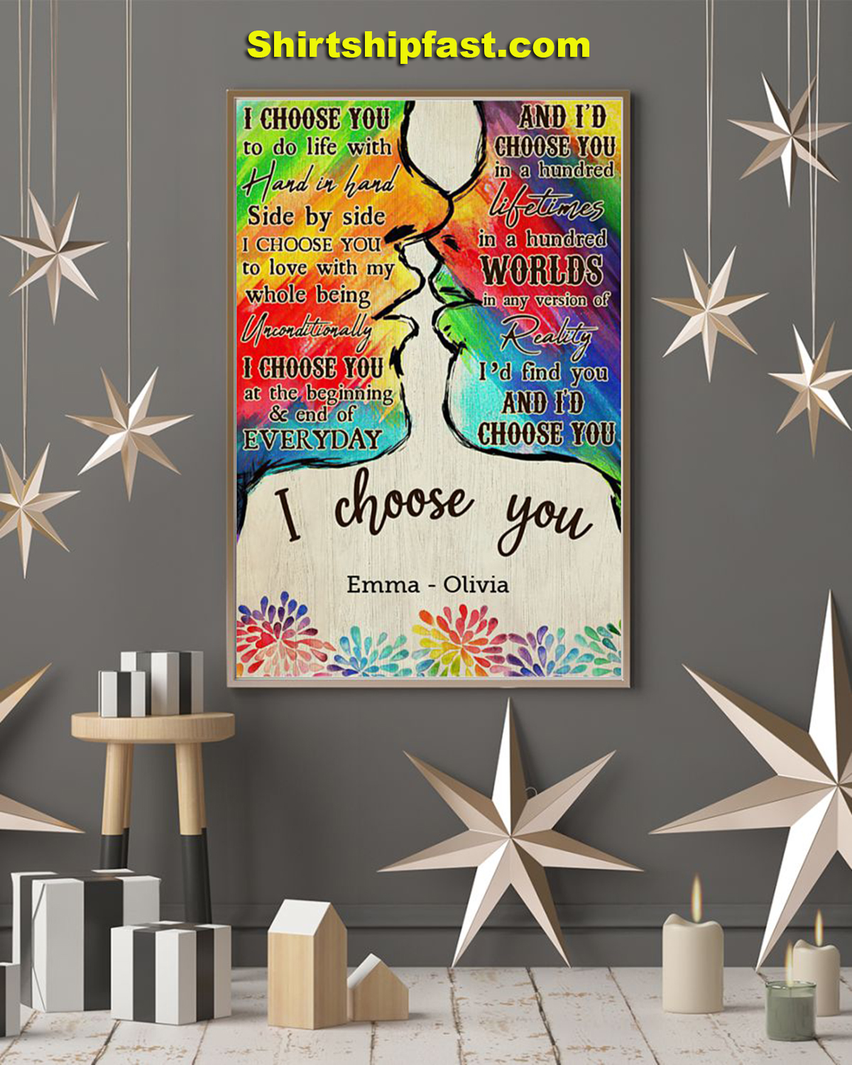 LGBT I choose you personalized poster - Picture 1