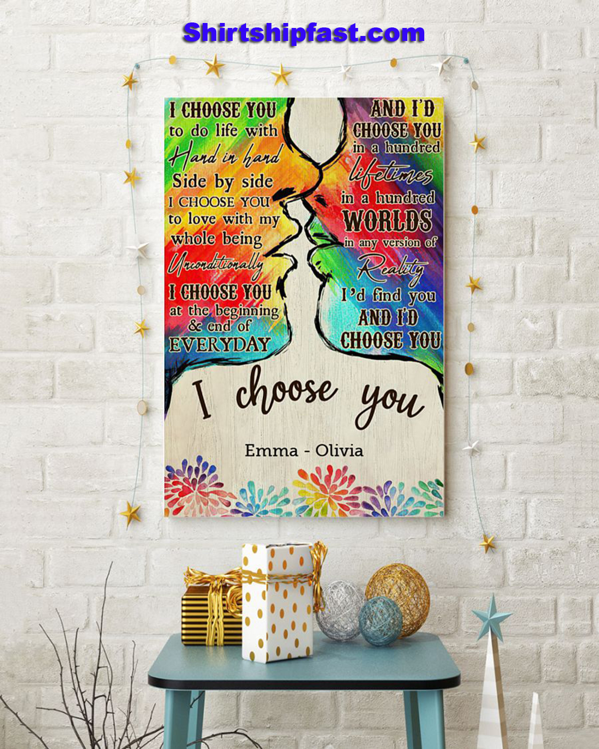 LGBT I choose you personalized poster - Picture 2