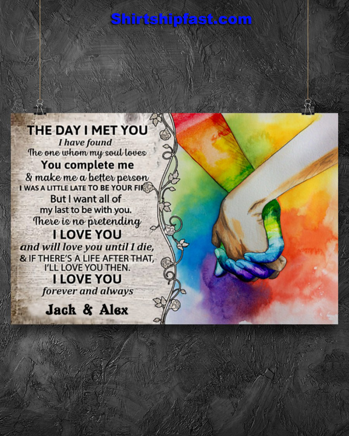 LGBT the day i met you custom name poster - Picture 1