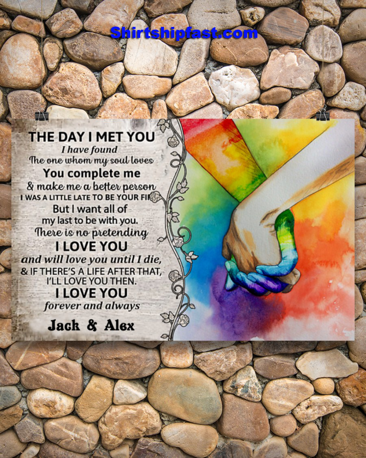 LGBT the day i met you custom name poster - Picture 2