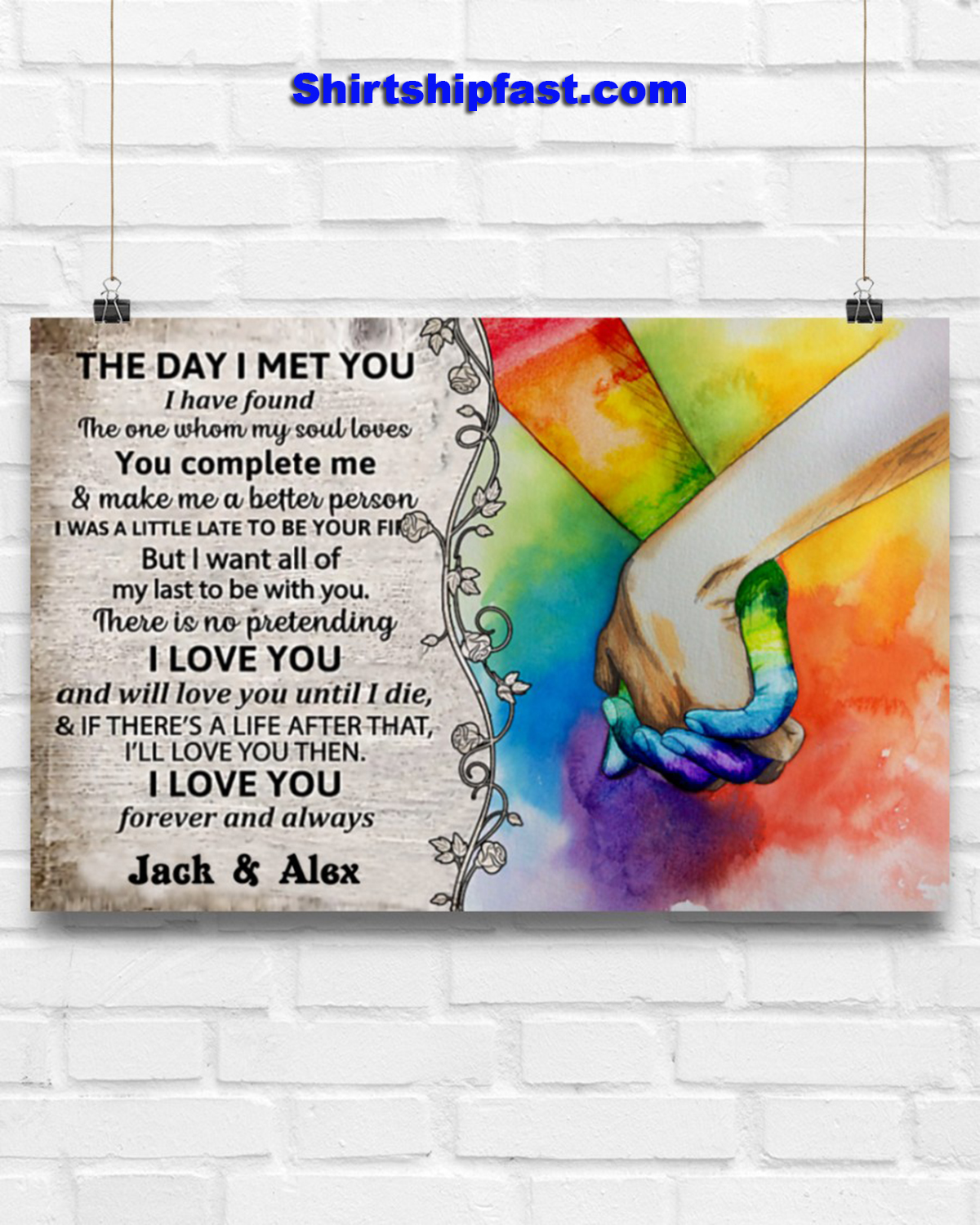 LGBT the day i met you custom name poster - Picture 3
