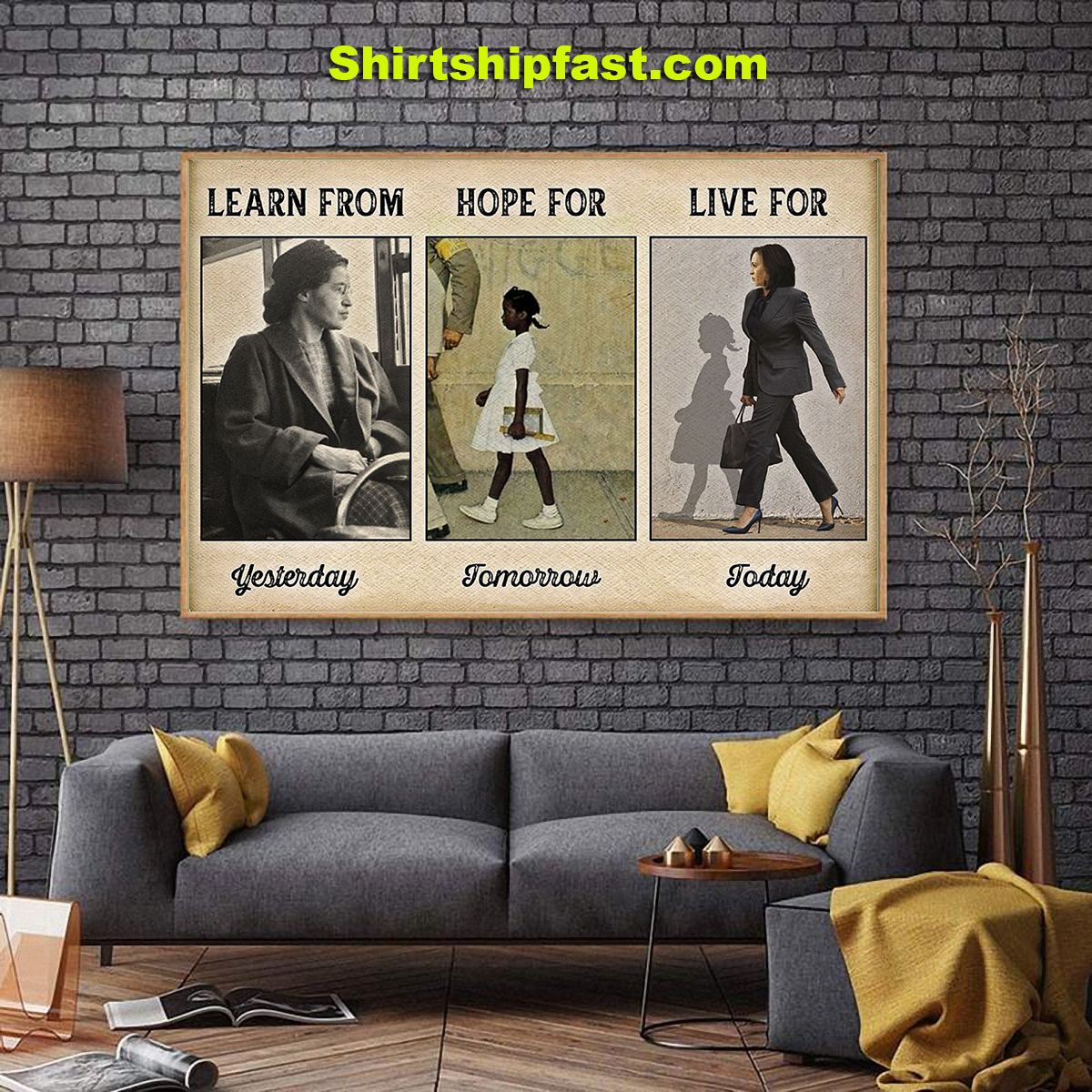 Learn from yesterday hope for tomorrow live for today poster - Picture 2