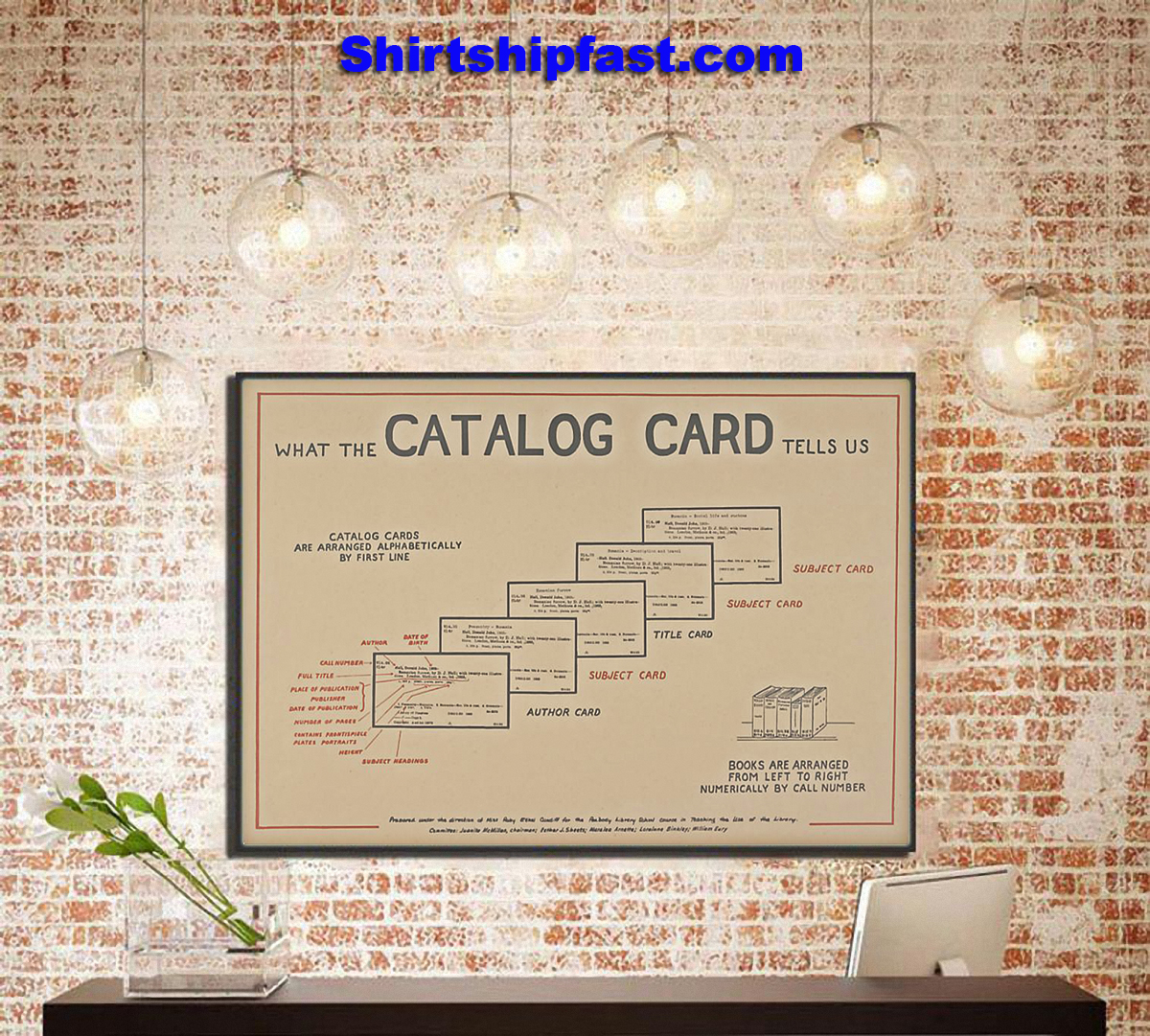 Librarian catalog card poster - Picture 1