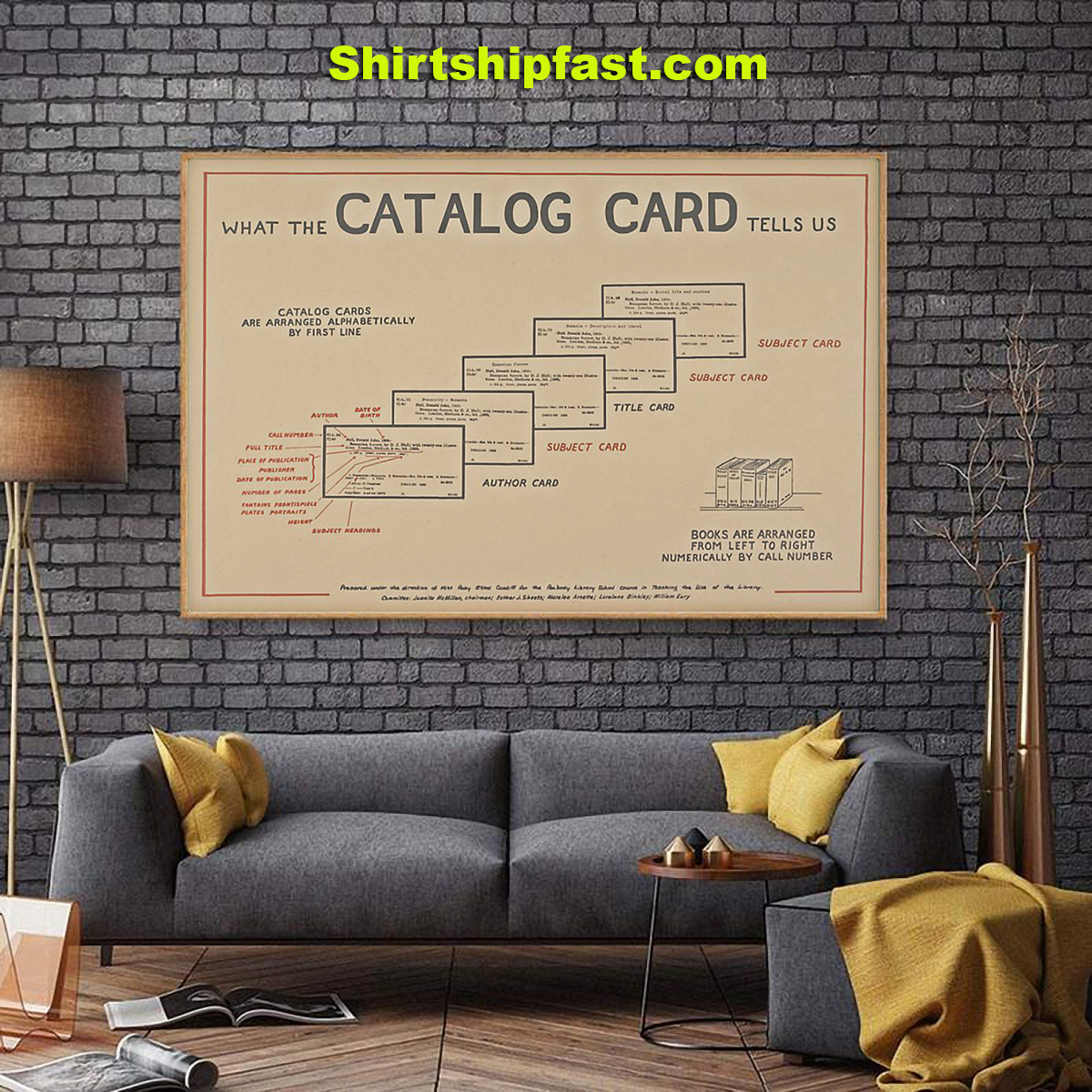 Librarian catalog card poster - Picture 2