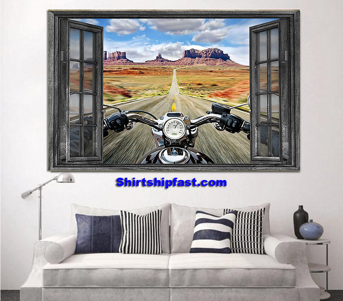 Motorcycle monument valley poster - Picture 2