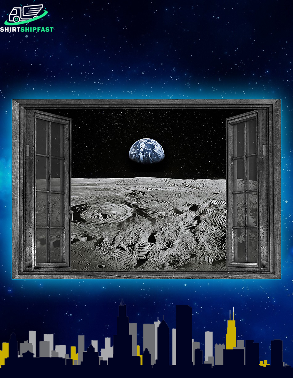 NASA found water on moon poster - Picture 1
