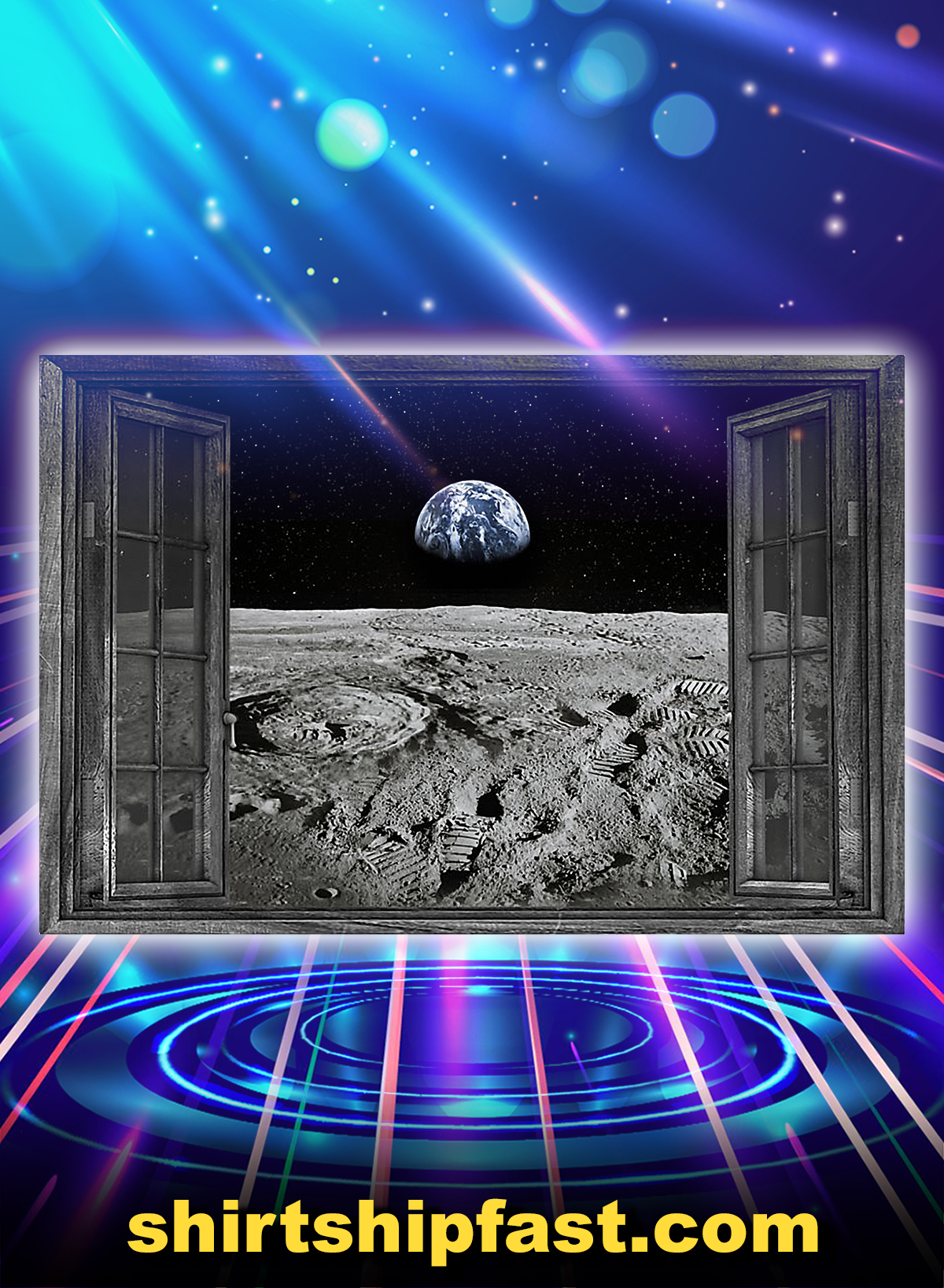 NASA found water on moon poster - Picture 3
