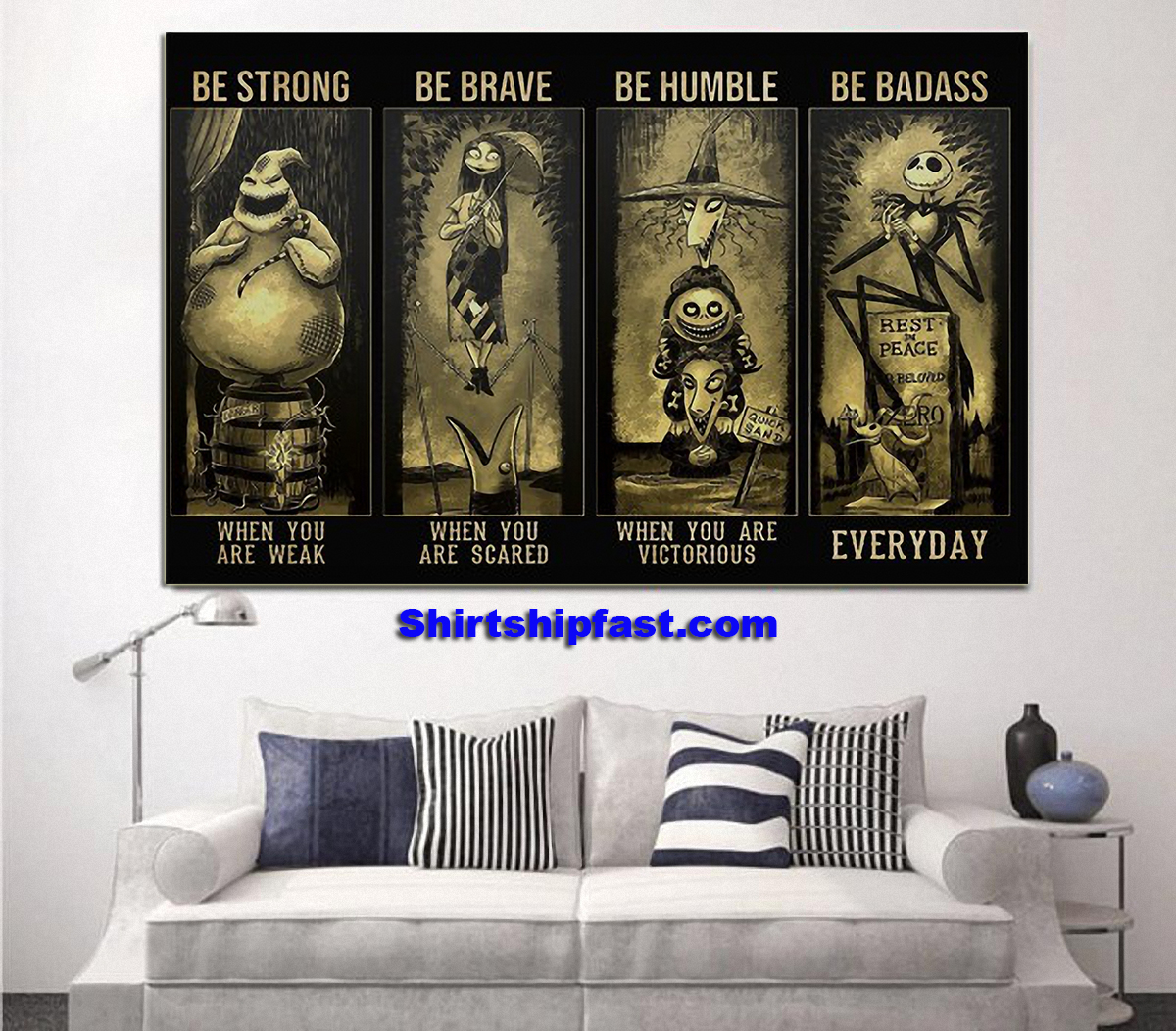 Nightmare before christmas be strong be brave be humble be badass poster - Picture 2