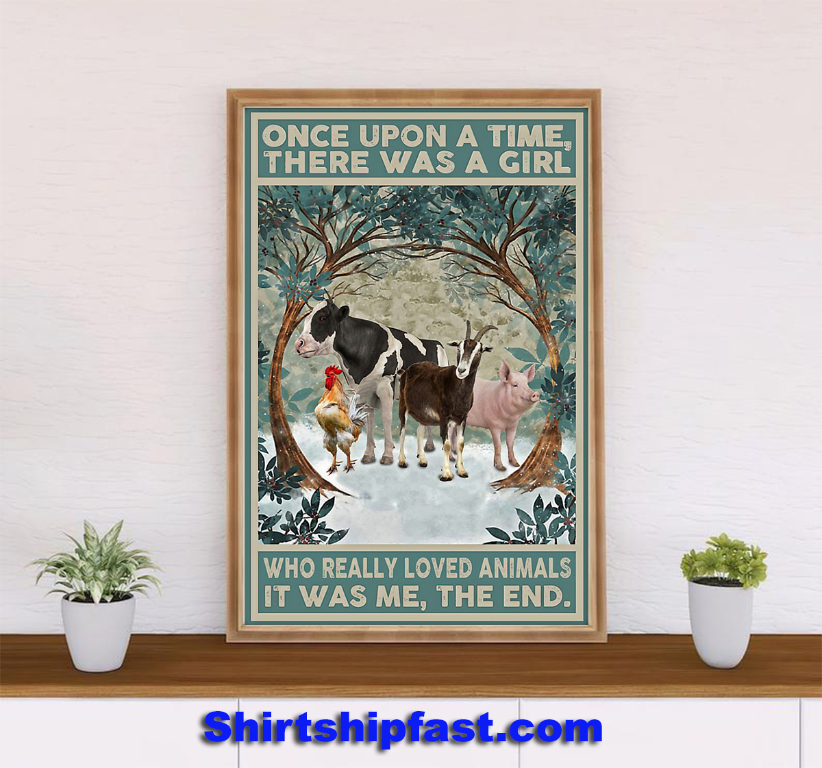 Once upon a time there was a girl who really loved animals poster - Picture 2