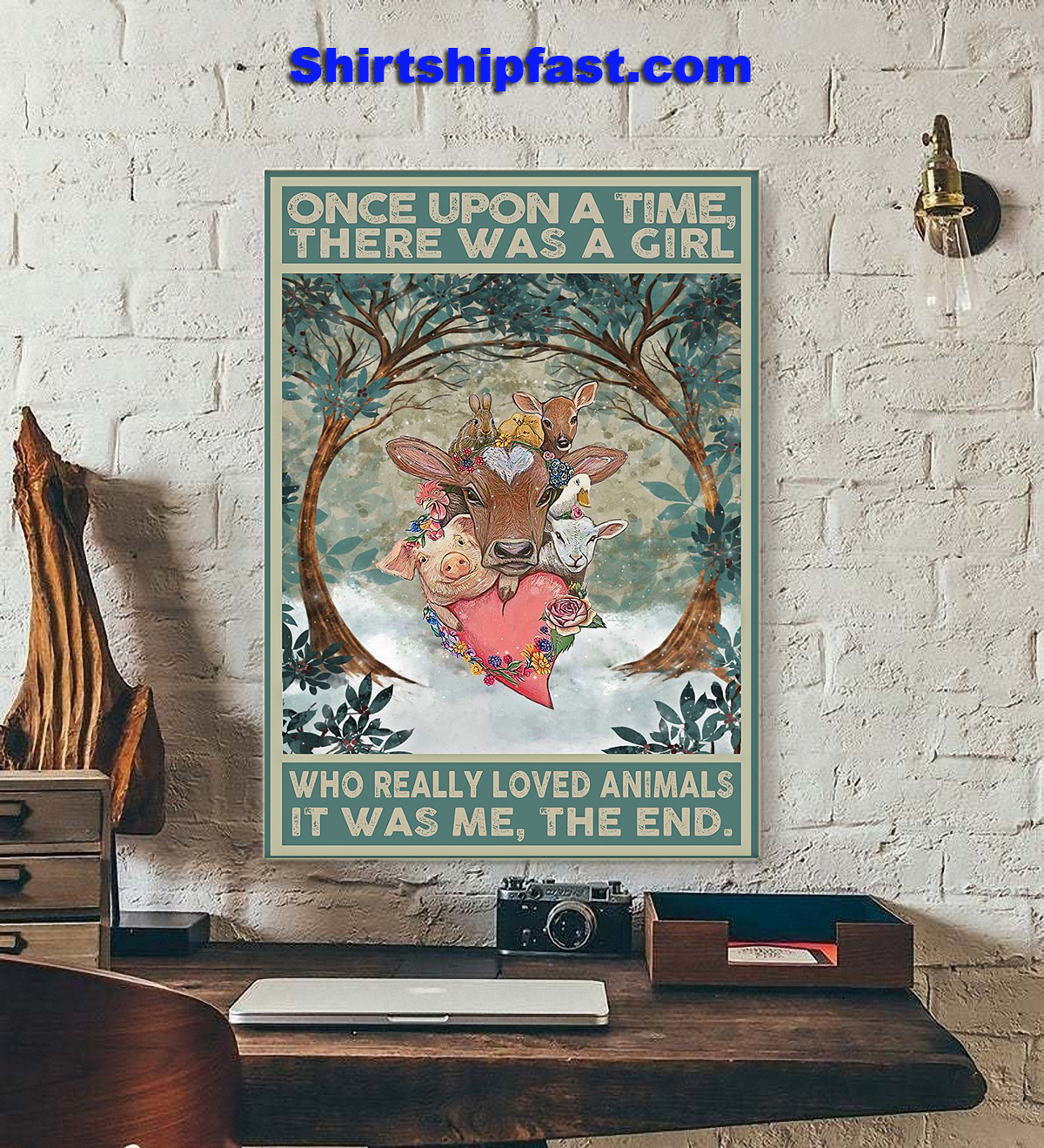 Once upon a time there was a girl who really loved animals poster - Picture 3