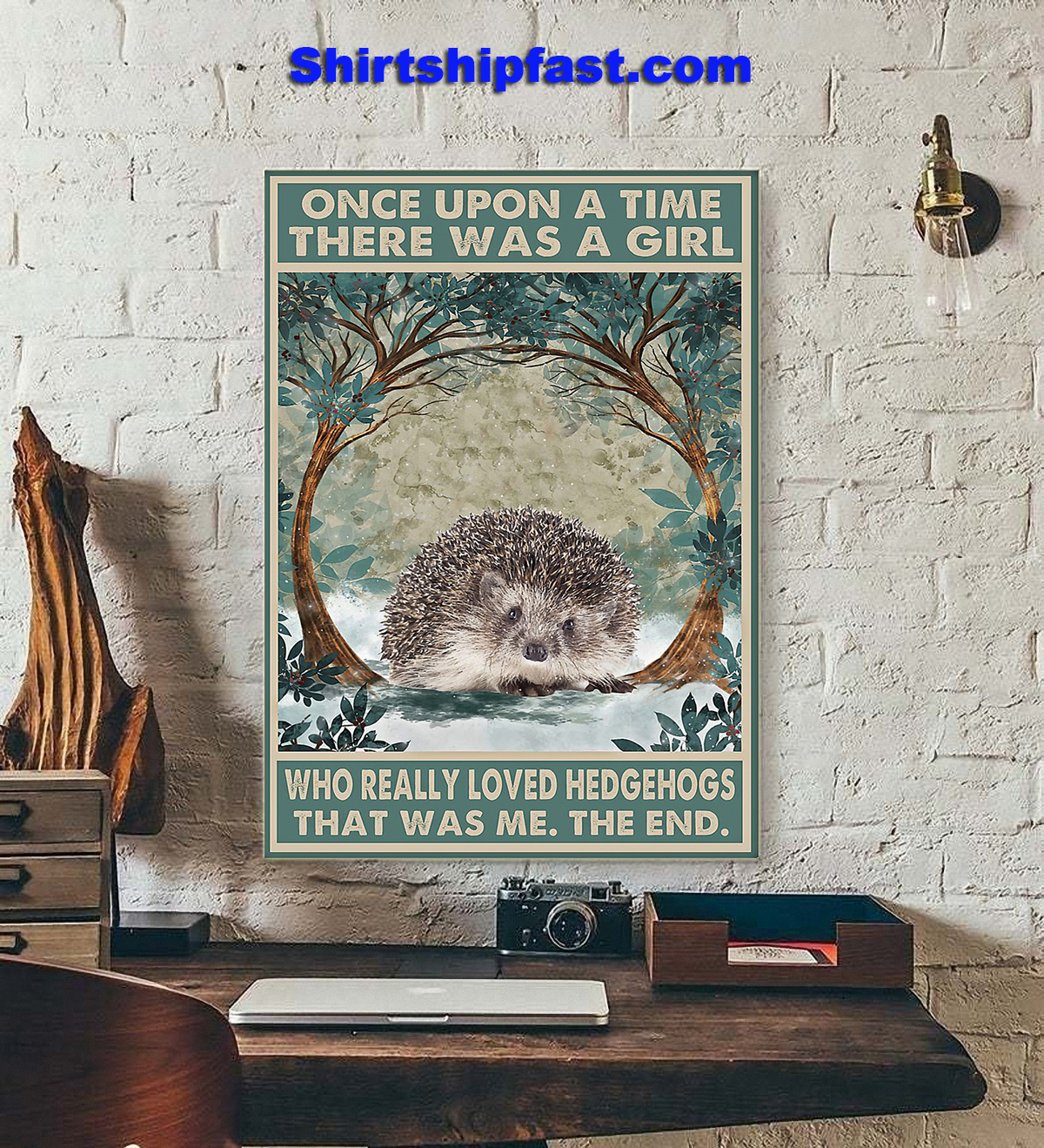 Once upon a time there was a girl who really loved hedgehogs poster - Picture 2