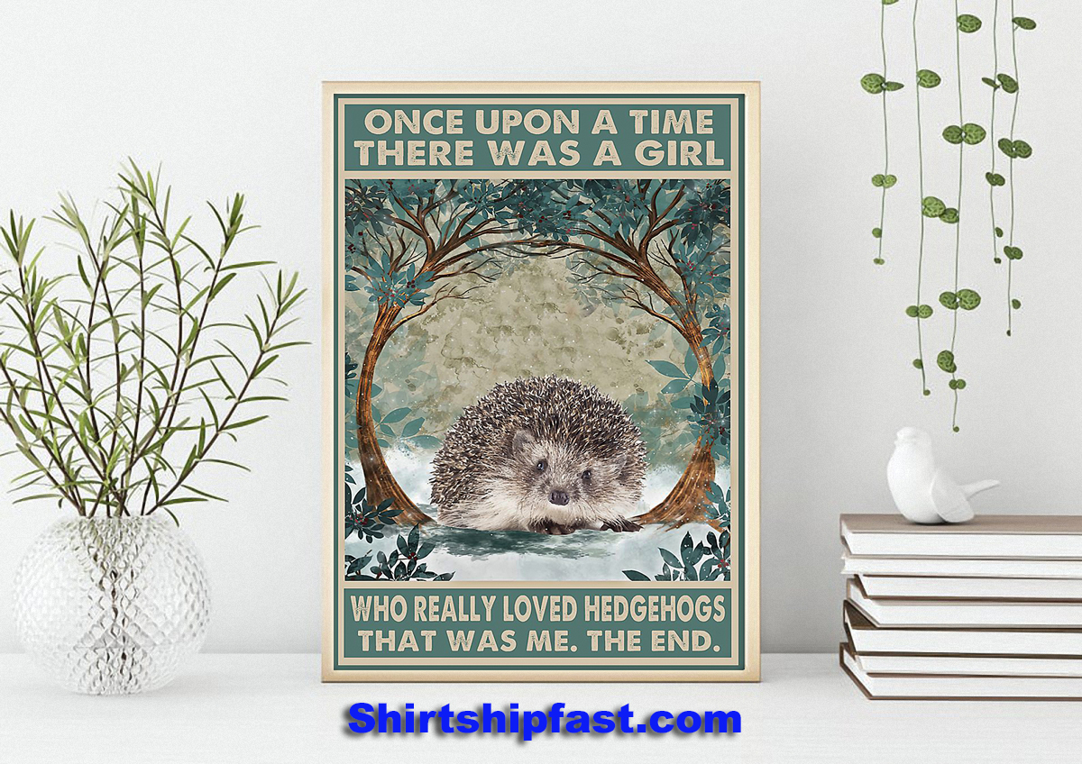 Once upon a time there was a girl who really loved hedgehogs that was me the end poster