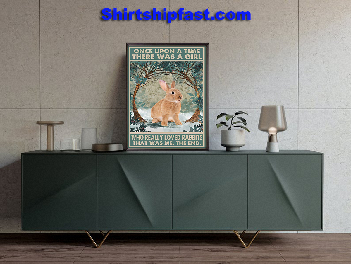 Once upon a time there was a girl who really loved rabbits poster - Picture 3