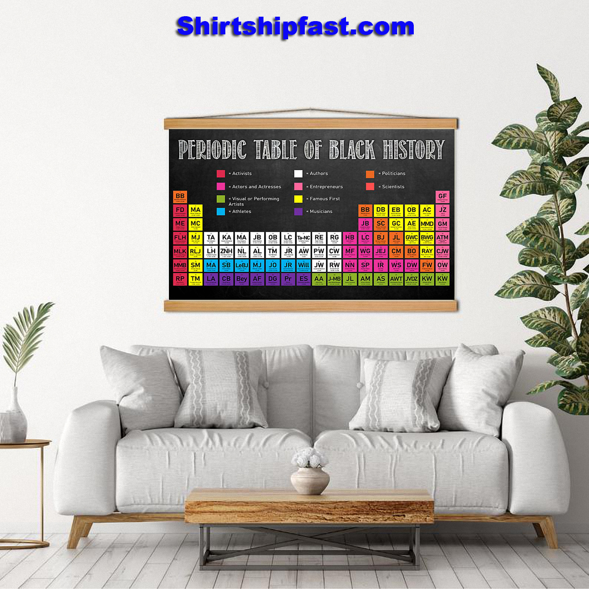 Periodic table of black history poster - Picture 1