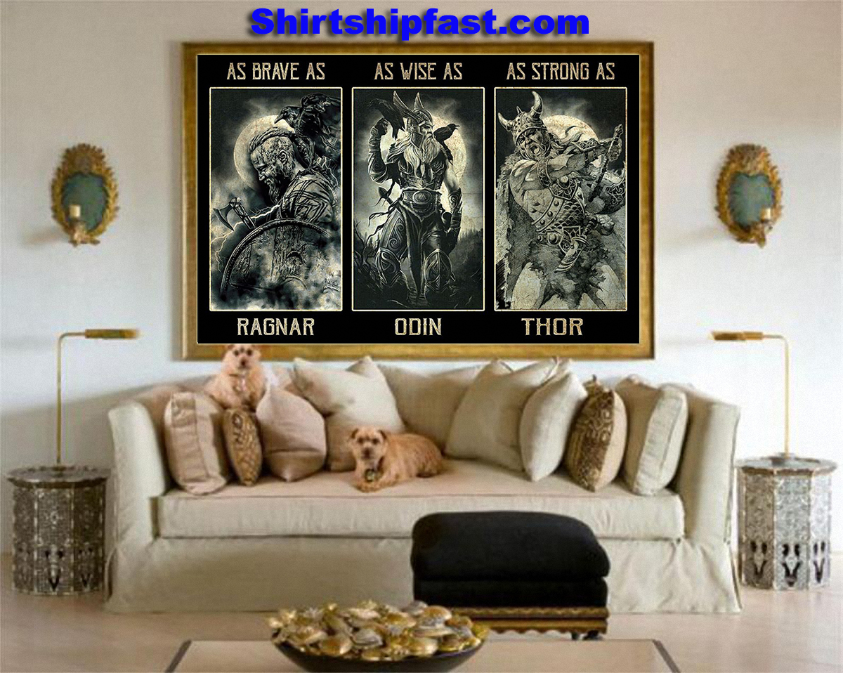 Poster As brave as Ragnar As wise as Odin As strong as Thor - Picture 2