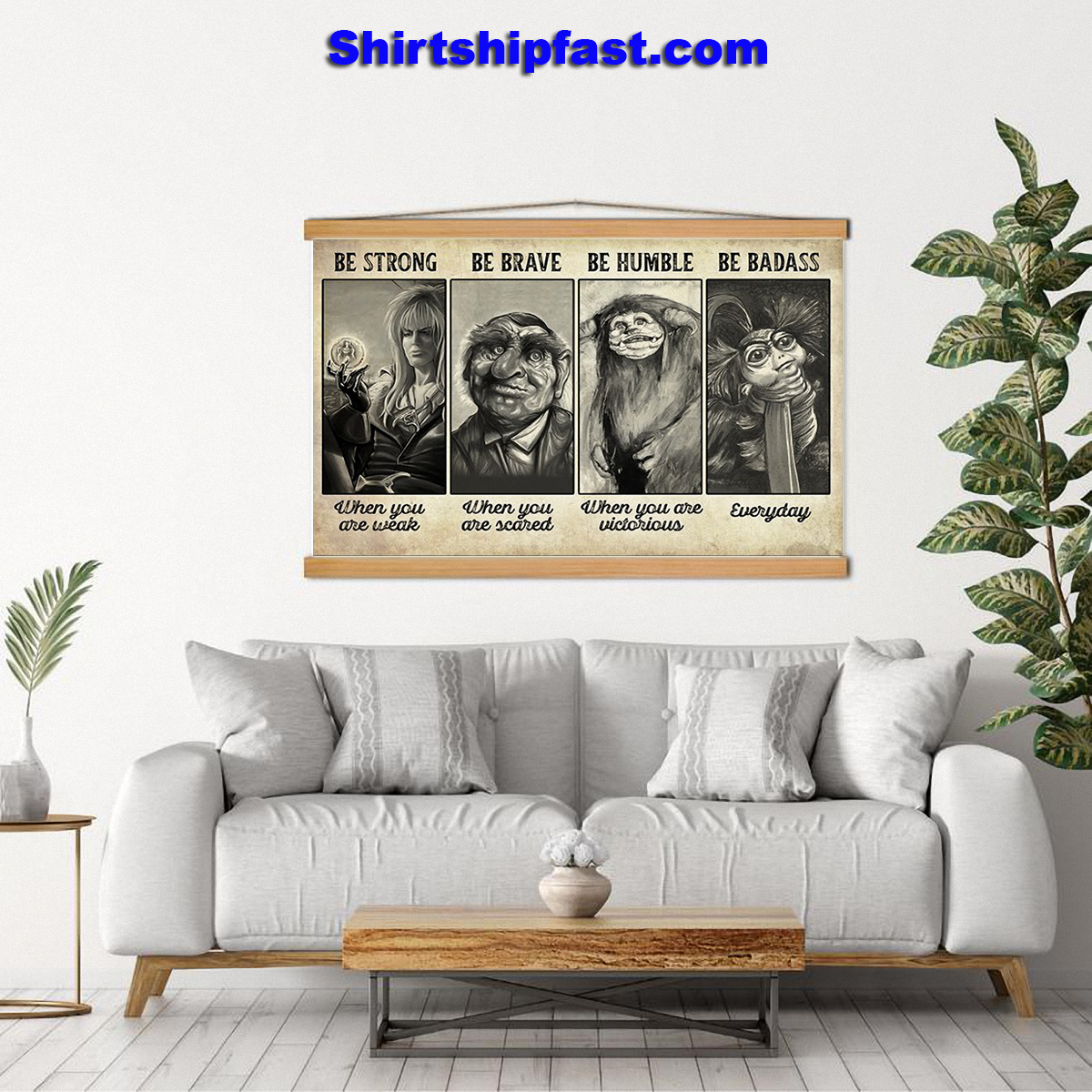 Poster Supernatural creature be strong be brave be humble be badass - Picture 2
