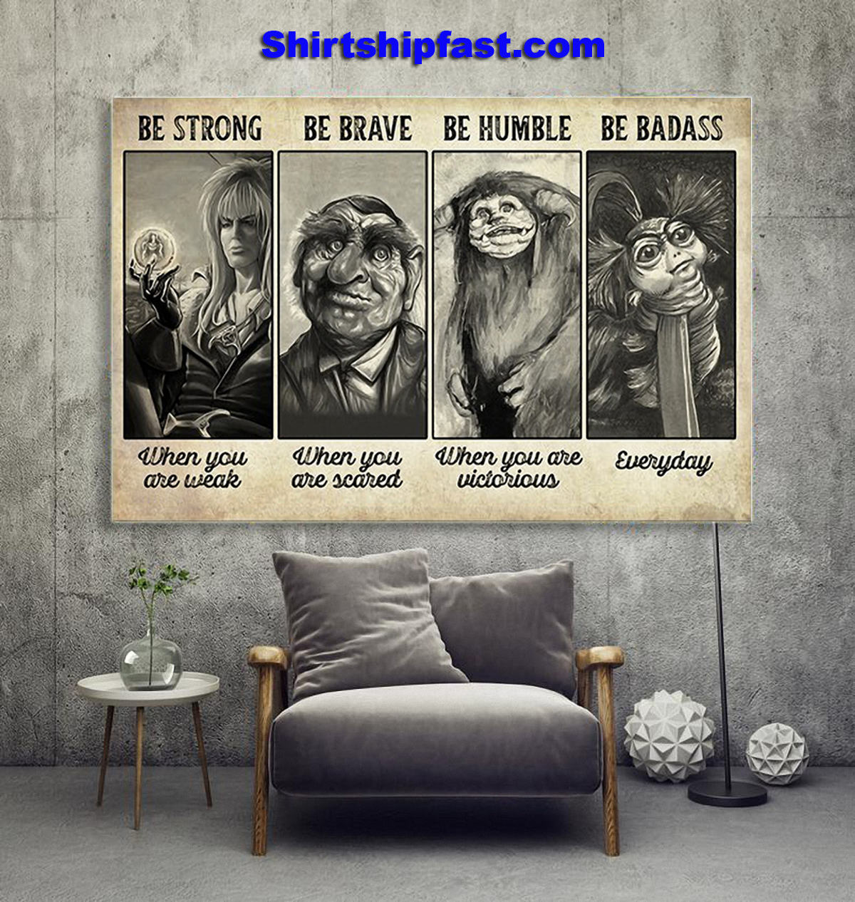 Poster Supernatural creature be strong be brave be humble be badass