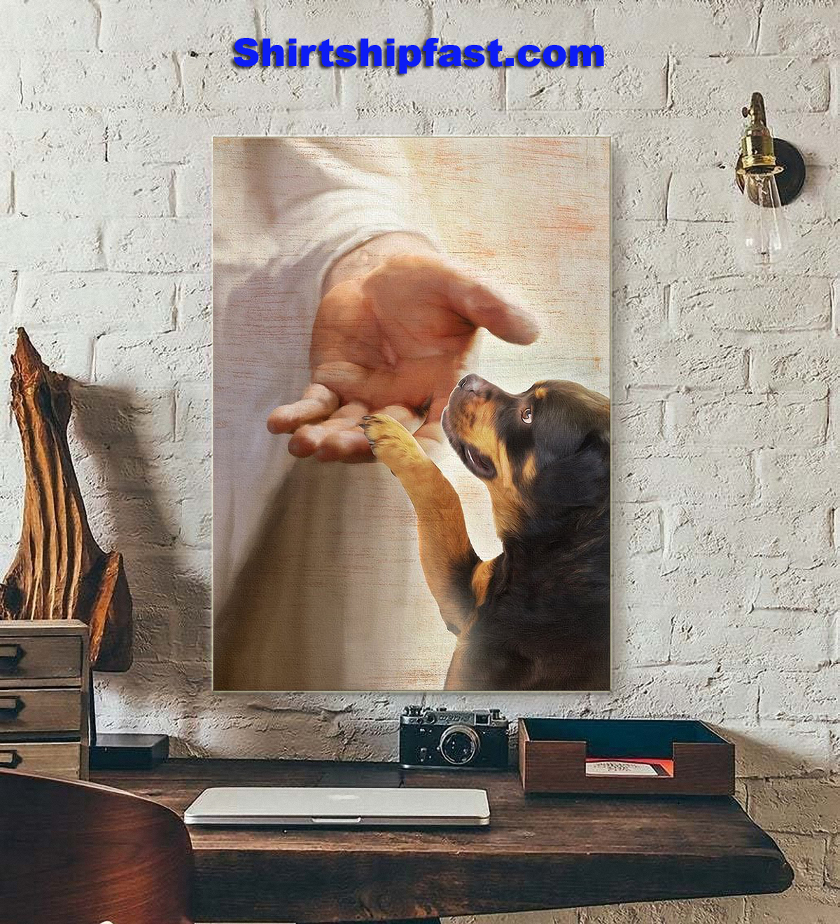 Rottweiler take my hand canvas - Picture 1