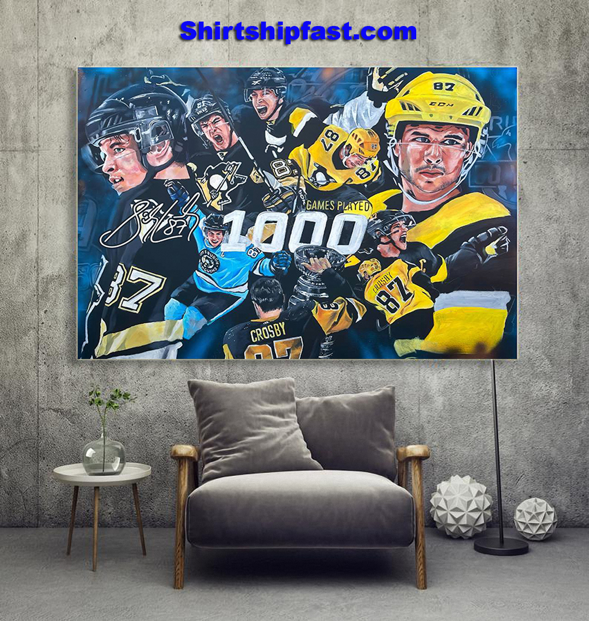 Sidney Crosby 1000th game poster - Picture 1