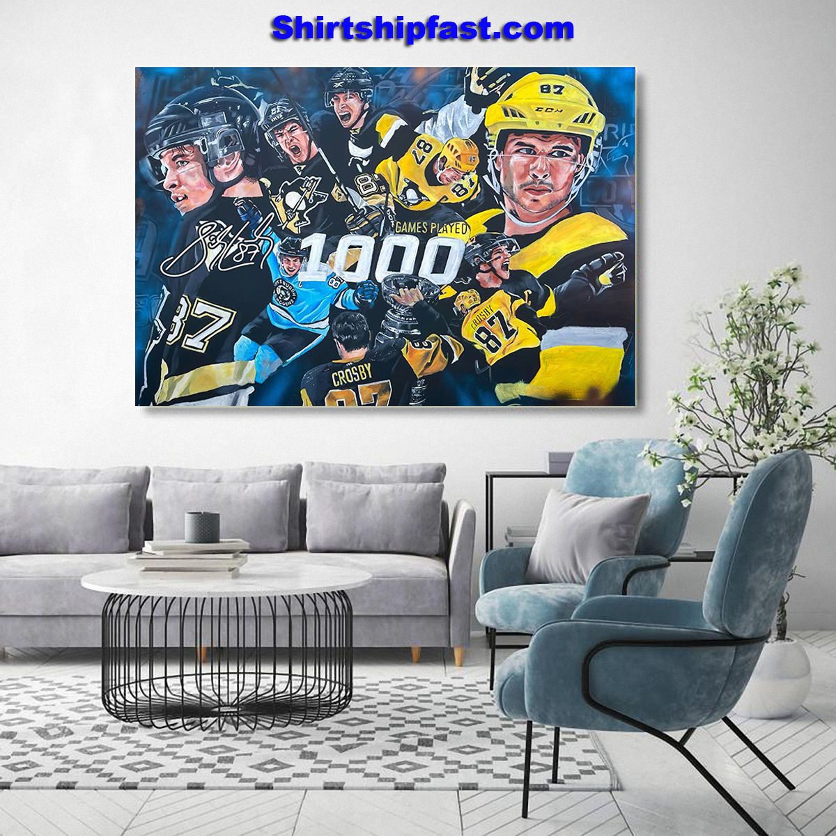 Sidney Crosby 1000th game poster