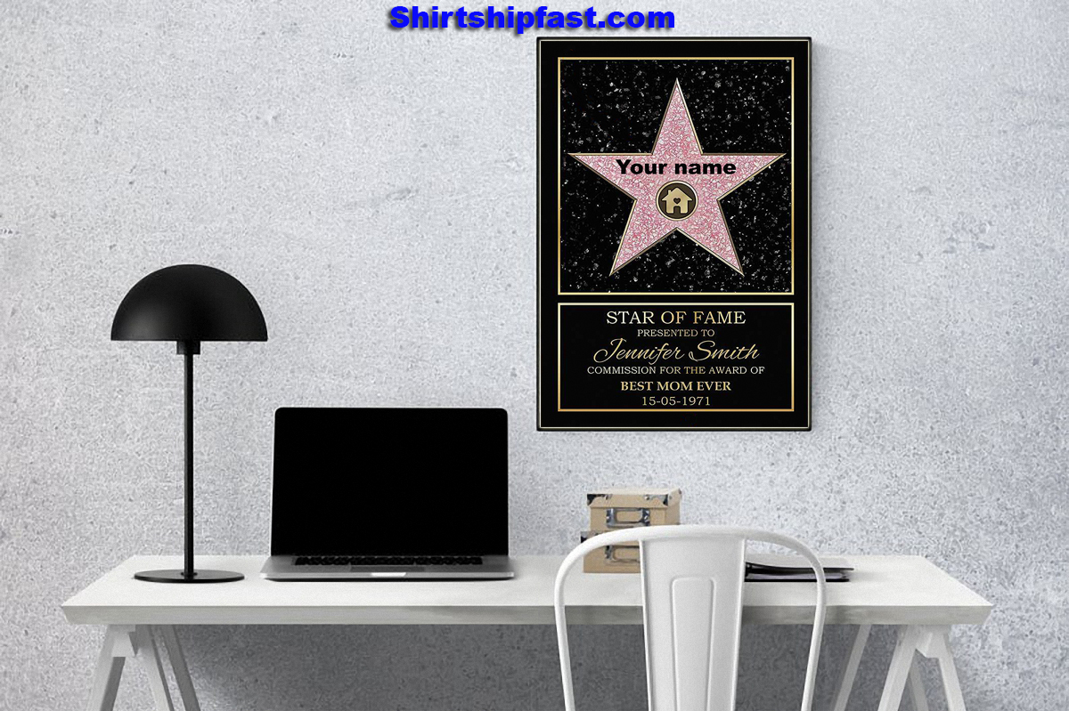 Star of fame award personalized canvas