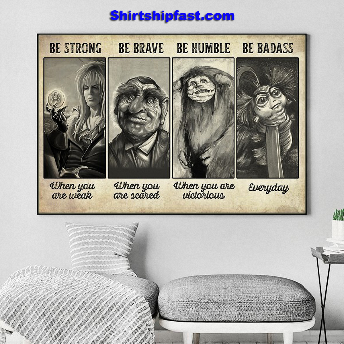 Supernatural creature be strong be brave be humble be badass poster - Picture 1