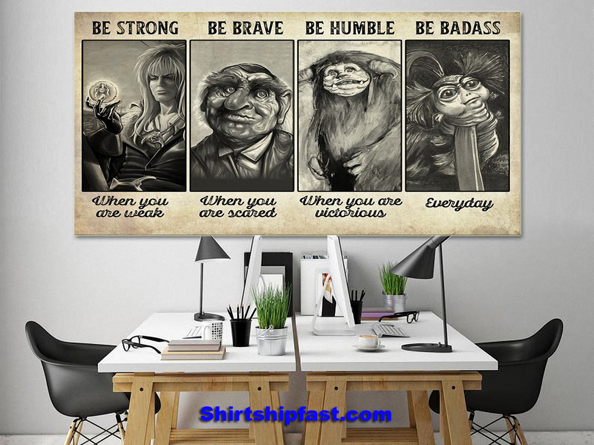 Supernatural creature be strong be brave be humble be badass poster - Picture 3