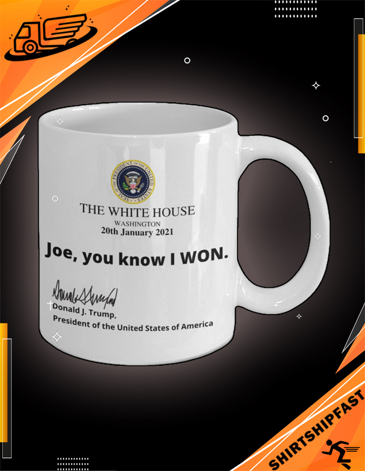 The White House Washington 20th January 2021 Joe you know I won mug - Picture 2
