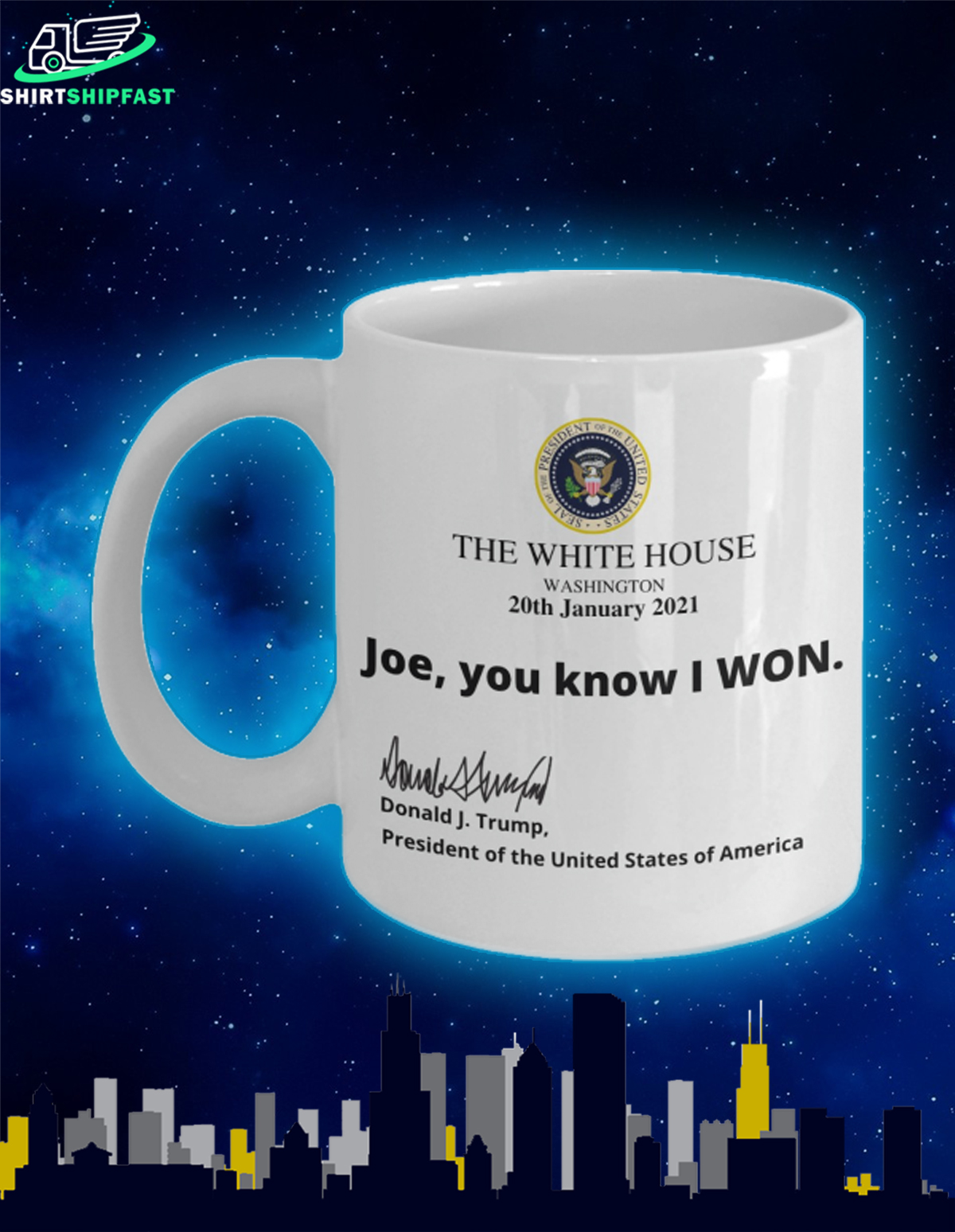 The White House Washington 20th January 2021 Joe you know I won mug - Picture 3