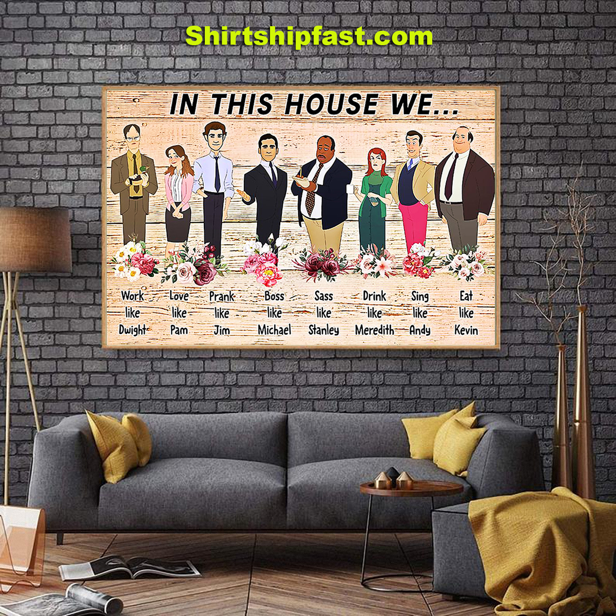 The office in this house we work like Dwigh poster - Picture 1