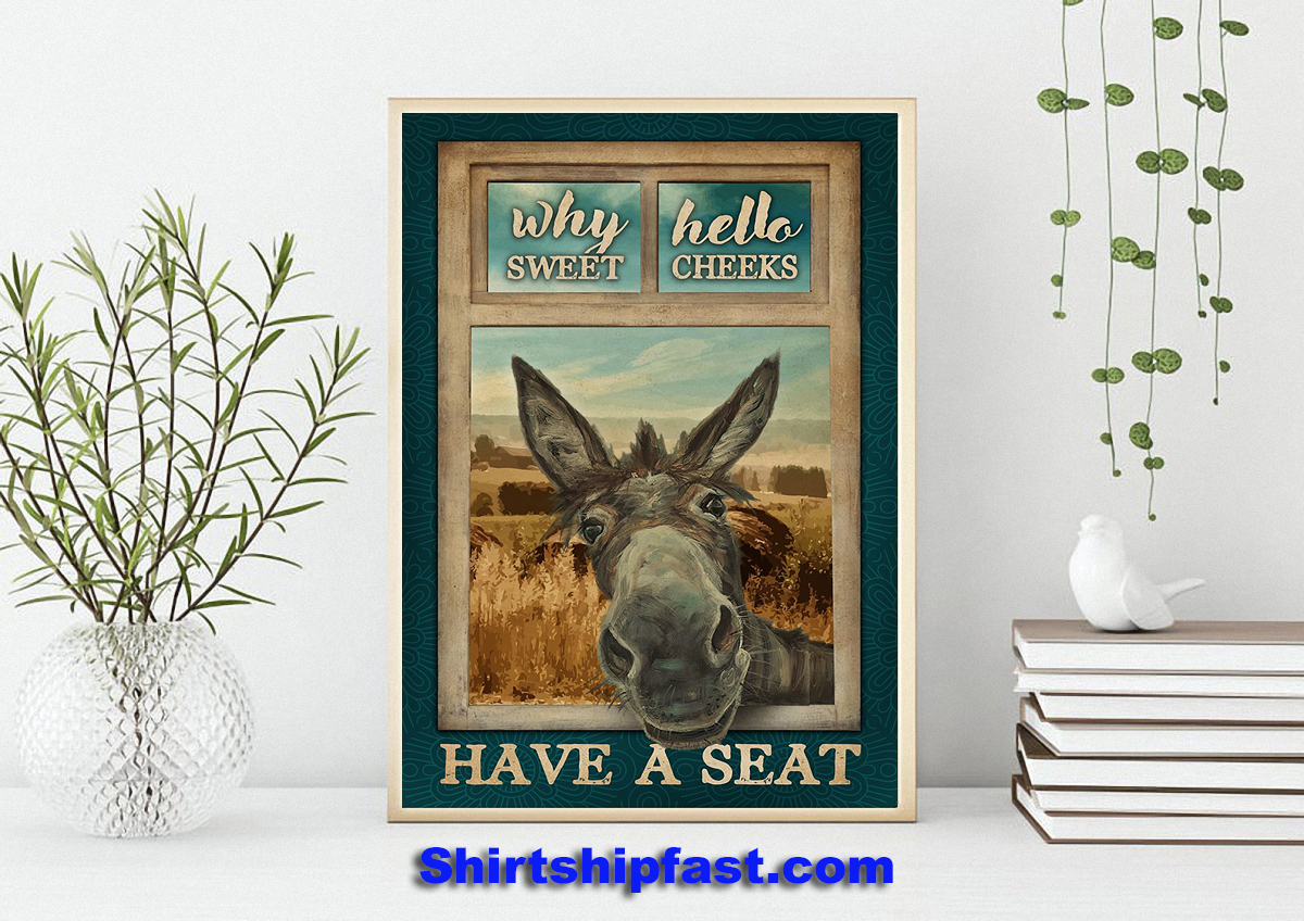 Why hello sweet cheeks Donkey poster - Picture 3